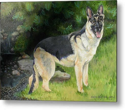 Portrait Metal Print featuring the painting Hailey by Eileen Hale