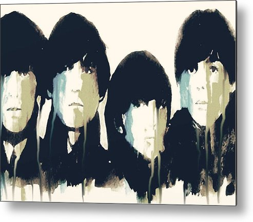 The Beatles Metal Print featuring the painting Hello Goodbye by Paul Lovering
