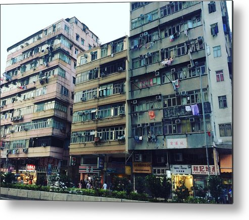 Hongkong Metal Print featuring the photograph Houses of Kowloon by Florian Wentsch