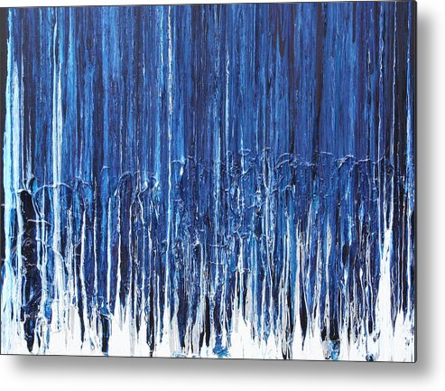 Fusionart Metal Print featuring the painting Indigo Soul by Ralph White