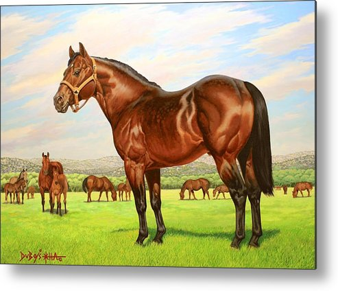 Quarter Horse Metal Print featuring the painting King P-234 No.two by Howard Dubois