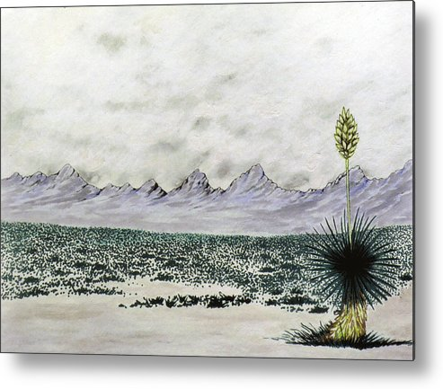 Desertscape Metal Print featuring the painting Land of Enchantment by Marco Morales