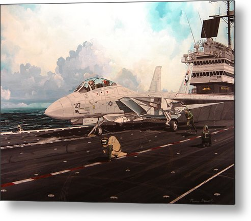 Military Metal Print featuring the painting Launch The Alert 5 by Marc Stewart
