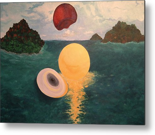 Light Metal Print featuring the painting Light Revealed by Nancy Brockett
