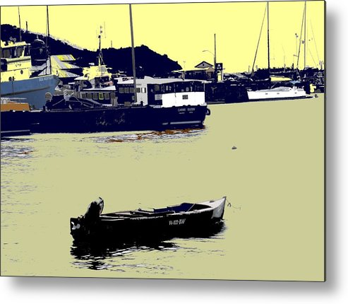 St Kitts Metal Print featuring the photograph Lone Boat by Ian MacDonald