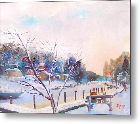 River Metal Print featuring the painting Looking Back by Jan Rapp