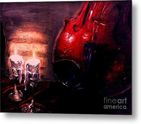 Love Metal Print featuring the painting Love for music by Patricia Awapara
