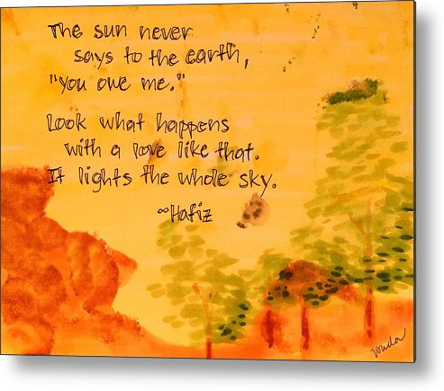 Love Metal Print featuring the painting Love Lights the Whole Sky by Vonda Drees