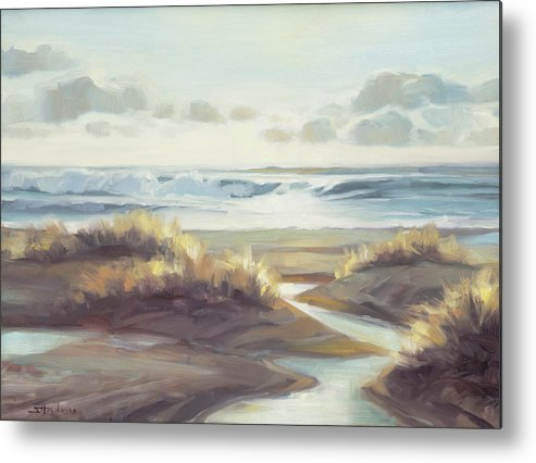 Ocean Metal Print featuring the painting Low Tide by Steve Henderson