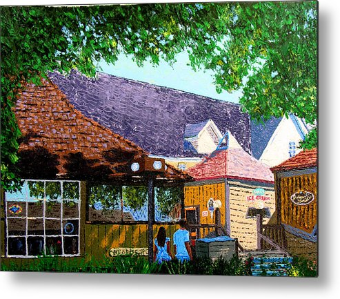 Original Oil On Canvas Metal Print featuring the painting Nashville 3-06 by Stan Hamilton