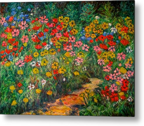 Wildflowers Metal Print featuring the painting Natural Rhythm by Kendall Kessler
