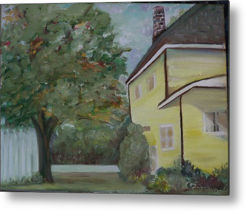 Oil Painting Metal Print featuring the painting NH Home by Pamela Wilson