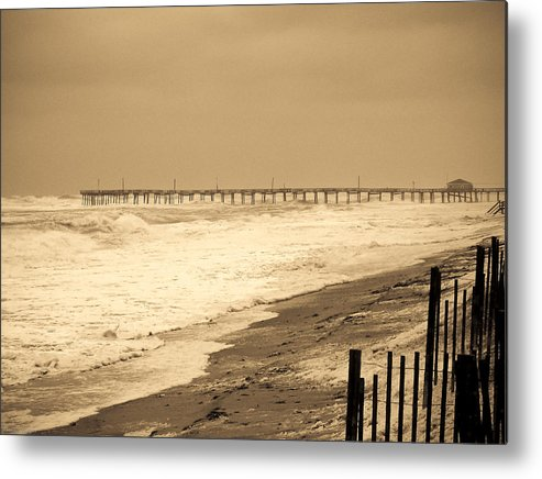 Ocean Metal Print featuring the photograph Nor'easter at Nags Head by Ches Black