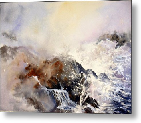Seascape Metal Print featuring the painting Ocean Rage by Lynne Parker