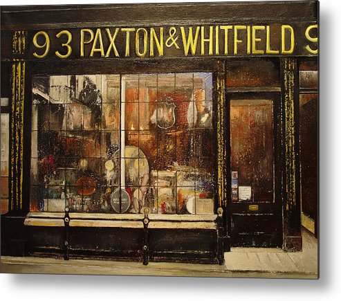 Paxton Metal Print featuring the painting Paxton Whitfield .London by Tomas Castano