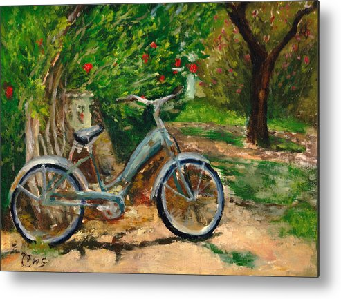Plein Air Metal Print featuring the painting Plien air afternoon by Chris Neil Smith