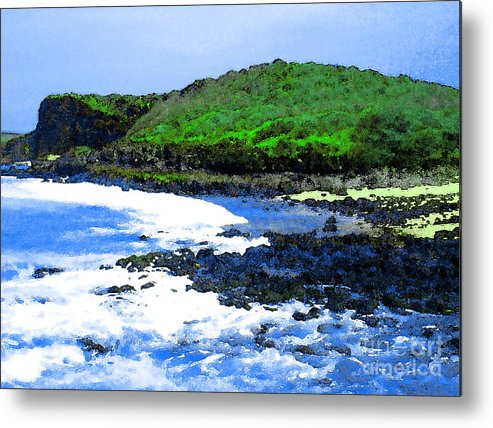 Pohaku Beach Metal Print featuring the photograph Pohaku Mauliuli Beach by James Temple