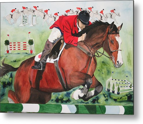 Horse Metal Print featuring the painting Practice Makes Perfect by Jean Blackmer