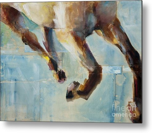 Horses Metal Print featuring the painting Ride Like You Stole It by Frances Marino
