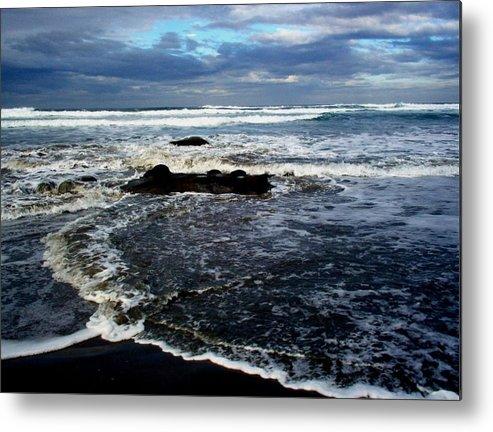 Ocean Metal Print featuring the photograph Rough Waters by Trisha Allard