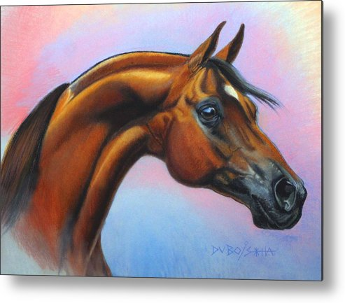 Arabian Metal Print featuring the painting Royal Beauty by Howard Dubois