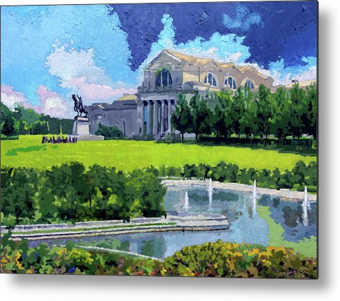 Museum Metal Print featuring the painting Saint Louis City Art Museum by John Lautermilch