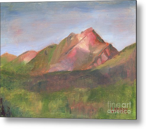 Colorado Metal Print featuring the painting Sangres I by Lilibeth Andre