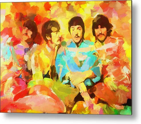 Sgt. Peppers Lonely Hearts Metal Print featuring the painting Sgt. Peppers Lonely Hearts by Dan Sproul