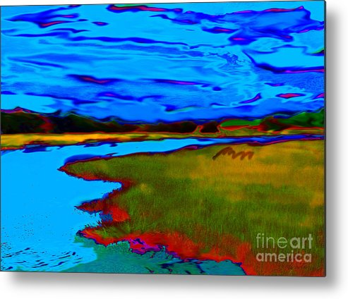Landscape Metal Print featuring the painting Shem Creek by Everett White