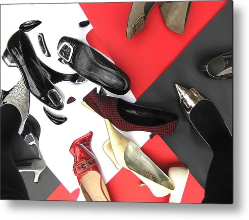 Shoes Metal Print featuring the photograph Shoe Fetishism 2 by Evguenia Men