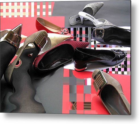 Shoes Metal Print featuring the photograph Shoe Fetishism 4 by Evguenia Men