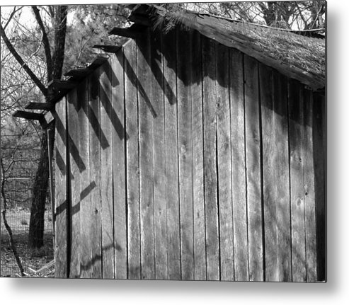 Wood Metal Print featuring the photograph SomeRainGetsThrough by Curtis J Neeley Jr