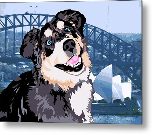 Dog Metal Print featuring the digital art Sydney by Sarah Crumpler