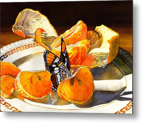 Butterfly Metal Print featuring the painting Tasty by Catherine G McElroy