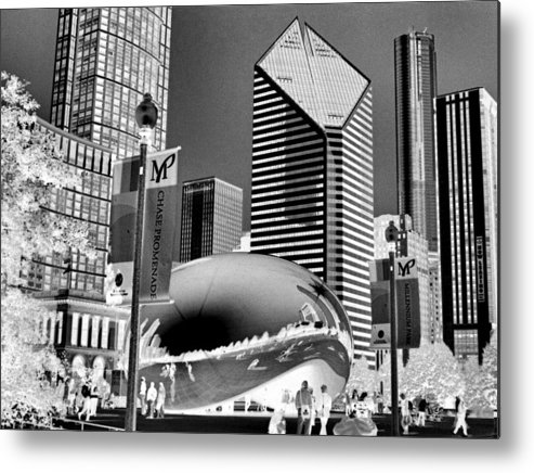 The Bean Metal Print featuring the photograph The Bean - 2 by Ely Arsha