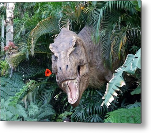 Dinosaur Metal Print featuring the photograph The Dinosaurs Lunch by Rana Adamchick