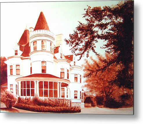 House Metal Print featuring the painting The Patton House by Scott Robinson