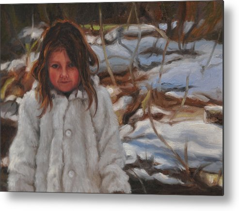 Portrait Metal Print featuring the painting The Snow Queen by Tahirih Goffic