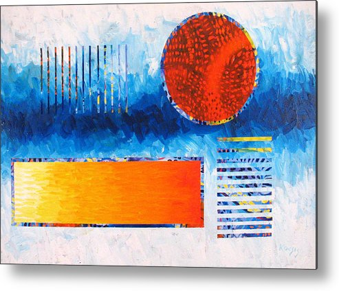 Abstract Metal Print featuring the painting This Was That by Rollin Kocsis