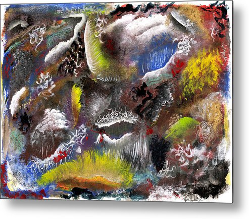 Depth Metal Print featuring the mixed media Underlying Theme - Portal by Nathaniel Hoffman