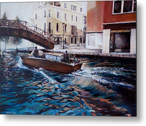 Venice Metal Print featuring the painting Venice by Jennifer Lycke