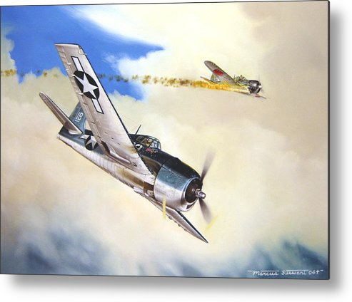 Military Metal Print featuring the painting Victory For Vraciu by Marc Stewart