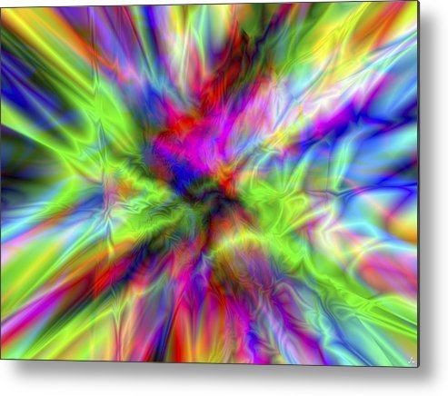 Colors Metal Print featuring the digital art Vision 1 by Jacques Raffin