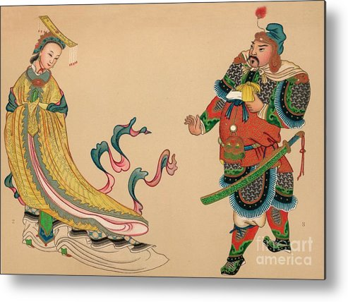 People Metal Print featuring the drawing Heroes And Heroines Of Chinese History by Print Collector