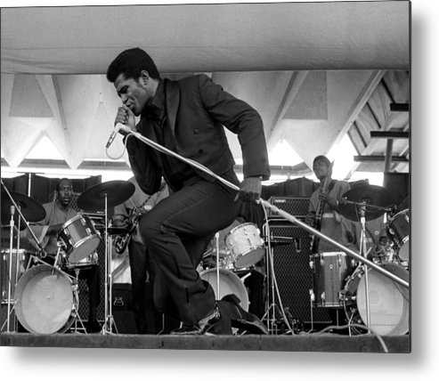 James Brown - Singer Metal Print featuring the photograph James Brown At Newport Jazz Festival by Tom Copi