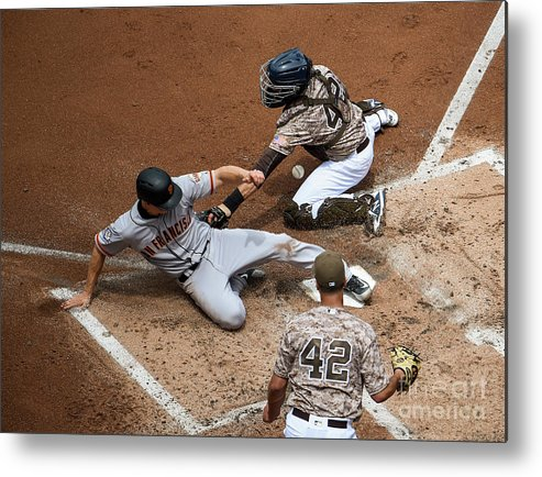 Second Inning Metal Print featuring the photograph San Franciso Giants V San Diego Padres by Denis Poroy