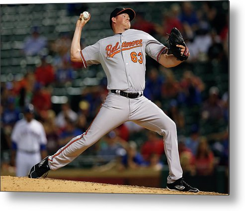 Ninth Inning Metal Print featuring the photograph Baltimore Orioles V Texas Rangers by Tom Pennington
