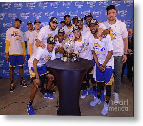 Playoffs Metal Print featuring the photograph Golden State Warriors V San Antonio by Noah Graham