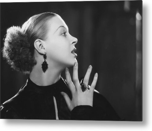 People Metal Print featuring the photograph Actress In Profile by Sasha