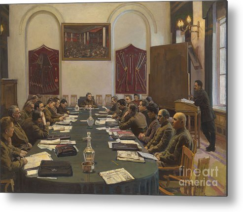 Oil Painting Metal Print featuring the drawing Assembly Of The Revolutionary Military by Heritage Images
